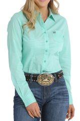 Cinch Womens Mint Western Shirt