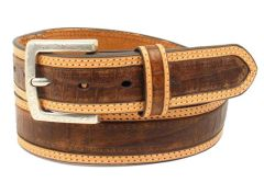 Ariat Western Belt Mens Faux Croco Print Removable Buckle