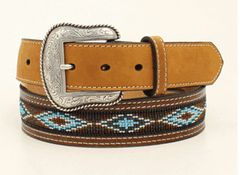 Nocona Bead Inlay Belt