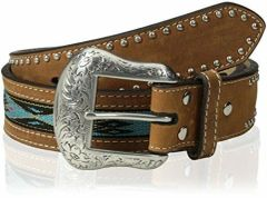 Nocona Top Hand Aztec Woven Inlay Belt
