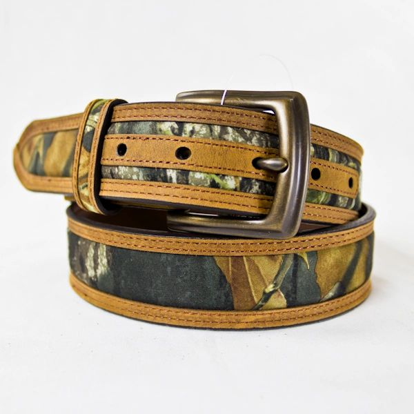 BROWN W/MOSSY OAK INLAY BELT