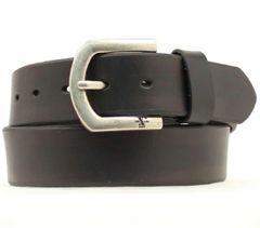 Men's Standard Belt in Black Cow with No Edge Stitching