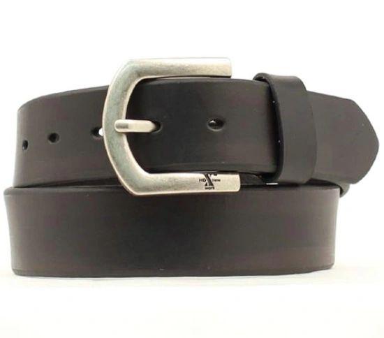 Men's Standard Belt in Black Cow with No Edge Stitching
