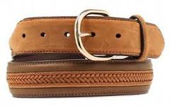 Nocona Men's Middle Leather Weave Belt