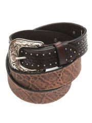 Roper Mens Brown Conchos LARGE SIZE Leather Belt