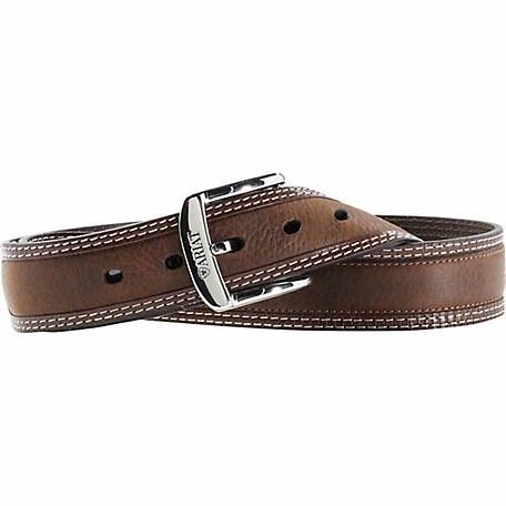 Ariat Men's Belt, Bordered Brown Oiled Rowdy