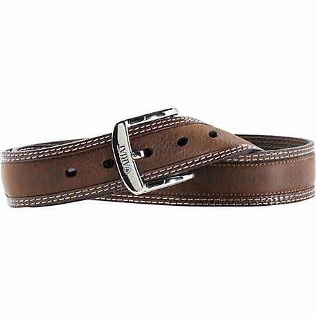 Ariat Men's Belt, Bordered Brown Oiled Rowdy