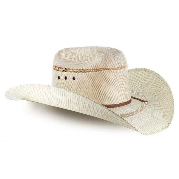 Tan Bangora Straw Mens Ariat Cowboy Hat