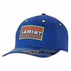 Ariat Western Mens Hat Baseball Cap Mesh Snap Patch Logo