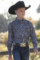 Kids Cinch Paisley Shirt