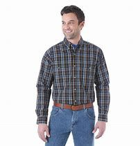 Wrangler Wash and Wear Snap Up Long Sleeve Assorted