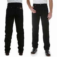 Mens Black Official Pro Rodeo Wranglers