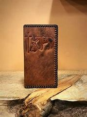 Cowboy Praying At The Cross Wallet/Checkbook Cover