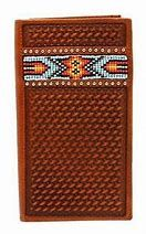 Nocona Basket Weave and Beaded Wallet/Checkbook Cover
