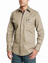Wrangler Khaki Authentic Work Western Shirt