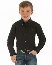 Boys Wrangler Riata Assorted Solid Color Long Sleeve