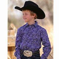 Boys Cinch Purple Paisley Long Sleeve