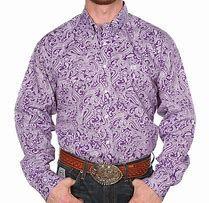 Cinch Boys Purple and White Paisley Long Sleeve
