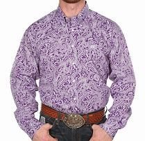 Cinch Boys Purple and White Paisley Long Sleeve