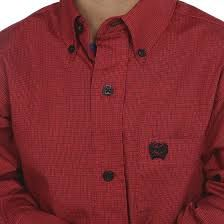 Cinch Boys Red Long Sleeve