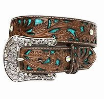 Womens Ariat Floral Over Turquoise Belt