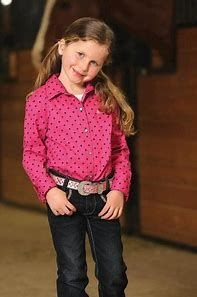 Girls Cruel Girl Pink and Black Polka Dot Long Sleeve