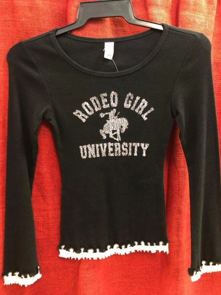 Girls Rodeo Girl University Long Sleeve Knit