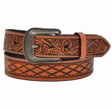 Mens 3D Belt With Diamond Shaped Tooling