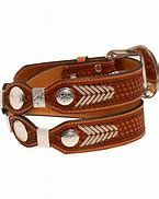 Nocona Mens RawHide Lacing and Round Conch on Basket Weave Belt