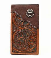 Nocona Mens Rodeo Wallet/Checkbook Cover With Cross Conch