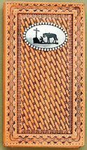 Nocona Mens Rodeo Wallet/Checkbook Cover With Praying Cowboy Conch