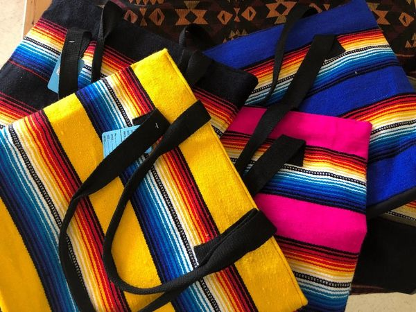 Assorted Colors Serape Tote