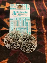 Round Filigree Earrings By Attitude Jewelry