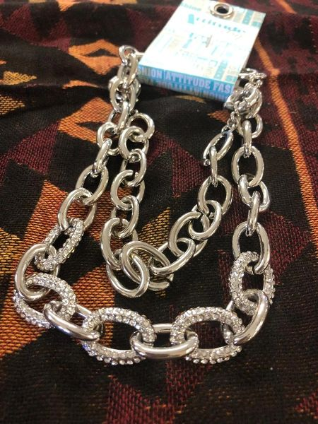 Womens 2 Way CZ Chain