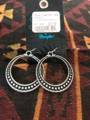 Studded Circle Dangle Earrings