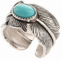 Feather Turquoise Stone Ring