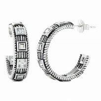 CZ and Stud Hoop Earrings
