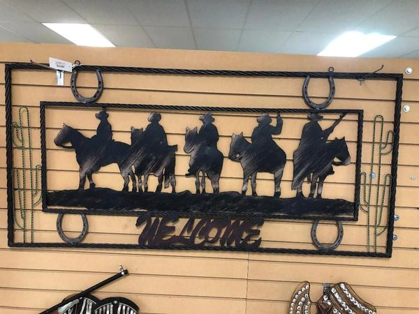 Iron Western Themed Welcome Sign