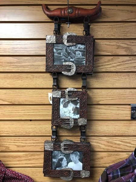 Metal Western Belt Picture Frame