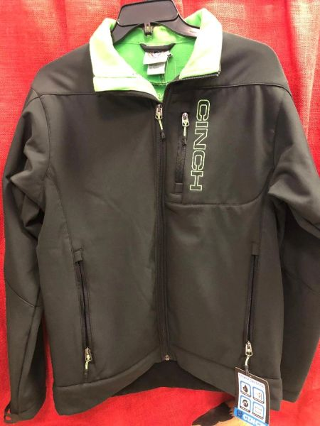 Mens Black and Green Cinch Jacket