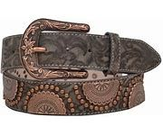Angel Ranch Ladies Tan and Copper Belt