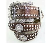 Girls Nocona Scalloped Edge Belt With Round Conchs