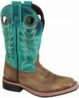 Smoky Mountain Kids Distressed Turquoise Boot