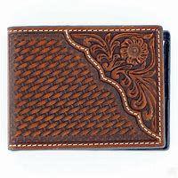 Nocona Pro Series Bi-Fold Basket Weave Wallet