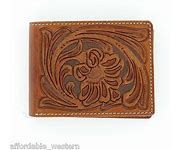 Nocona Floral Embossed Removable Passcase Bi-Fold Wallet