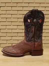 Dan Post Mens Tan and Brown American Bison Boot