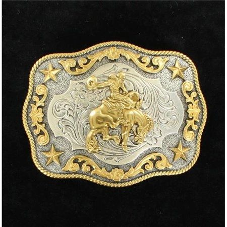 Nocona Silver and Gold Saddle Bronc Buckle