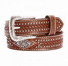Kids Ariat Belt With Diamond Conch