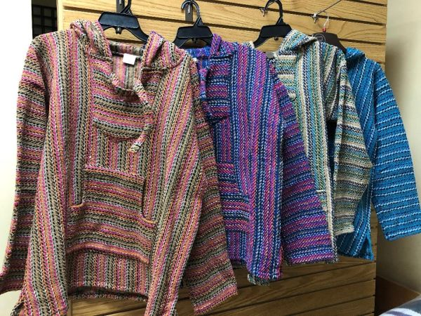 Southwestern Style Baja Pullover Hoodie Assorted Colors