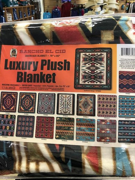 Queen Size Southwestern Design Luxury Plush Blanket